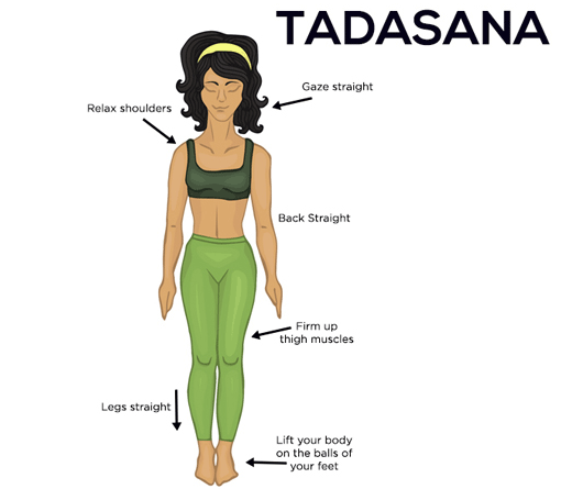 Steps to do Tadasana – All About India – Bharat Stories